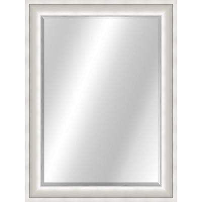 Curved 22 x 28 Value Core Silver (white) Framed Vanity Mirror