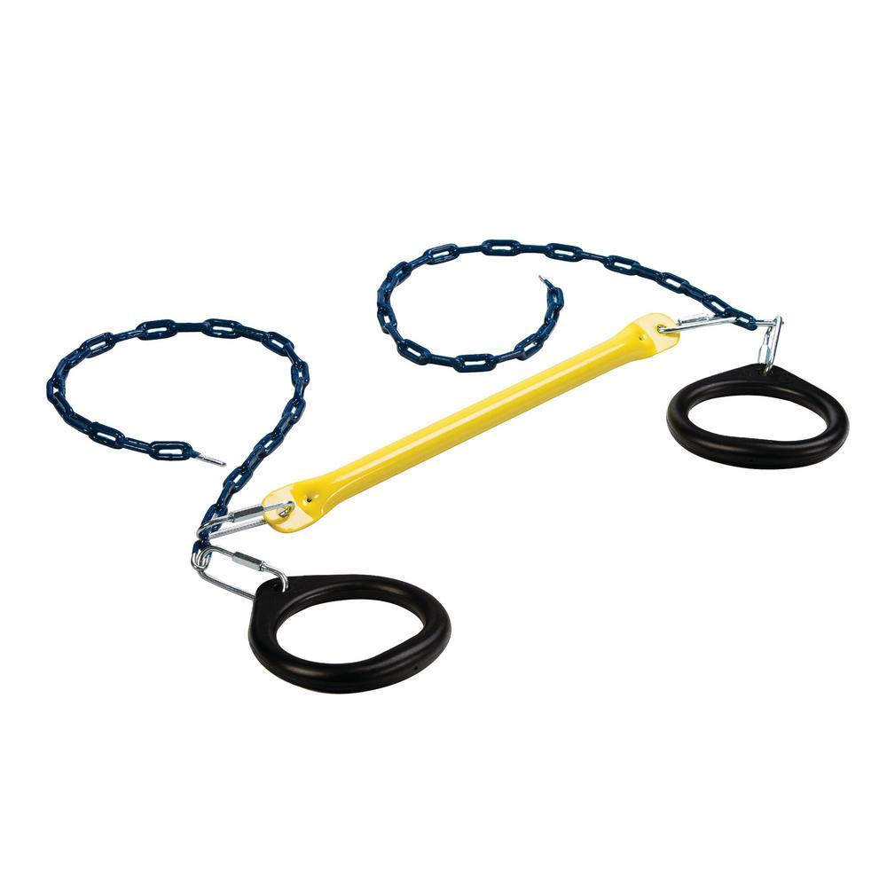 Circular Rings & Trapeze Bar Combo- Yellow