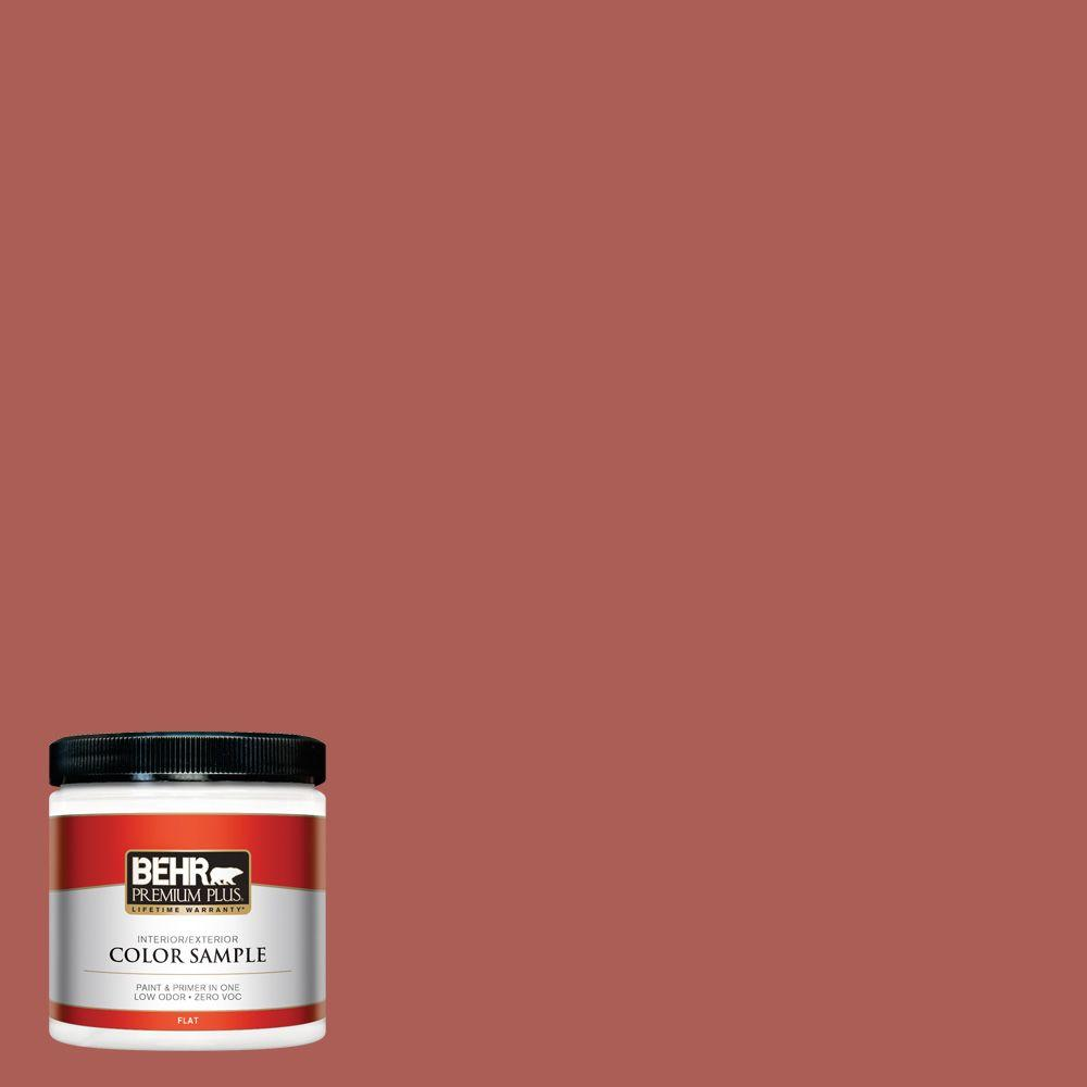 BEHR Premium Plus 8 oz. #T12-1 Prairie Poppy Zero VOC Interior/Exterior Paint Sample