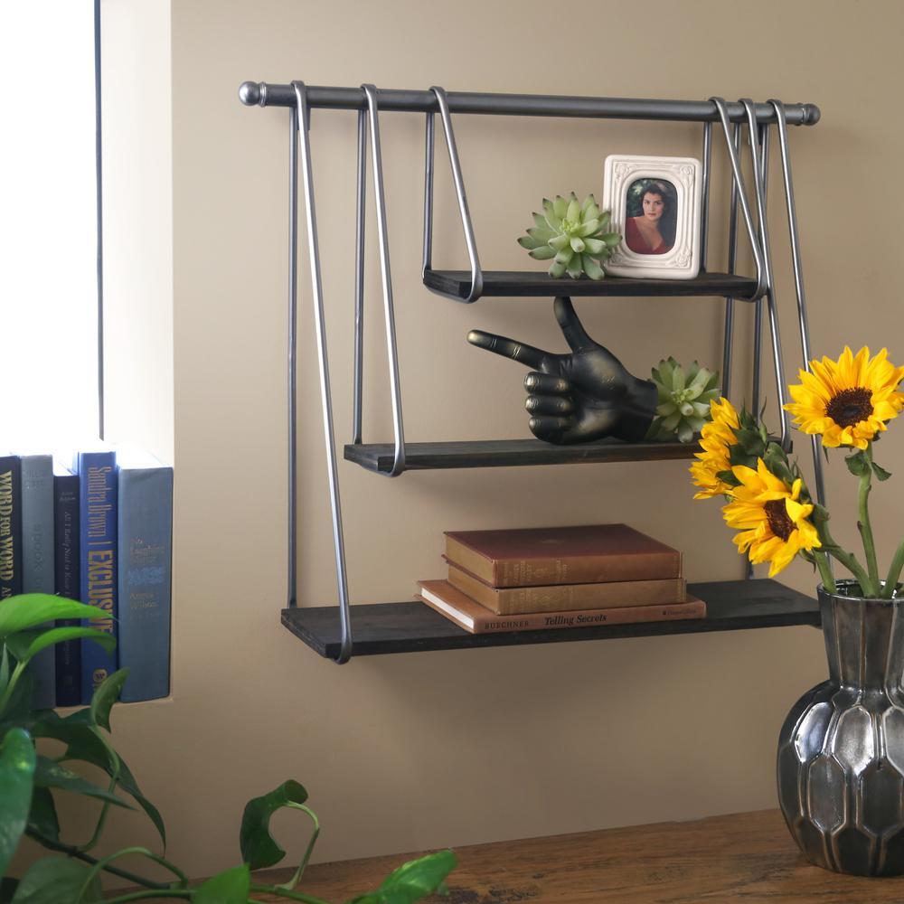 24 in. x 20 in. 1 Metal Wall Shelf