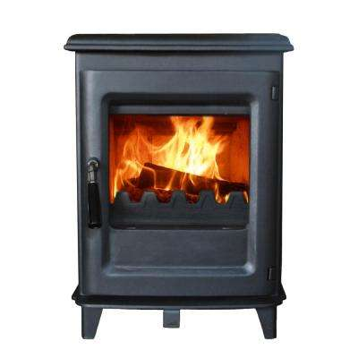 800 sq. ft. EPA Certified Small Wood Burning Stove HF905UB in Black Paint