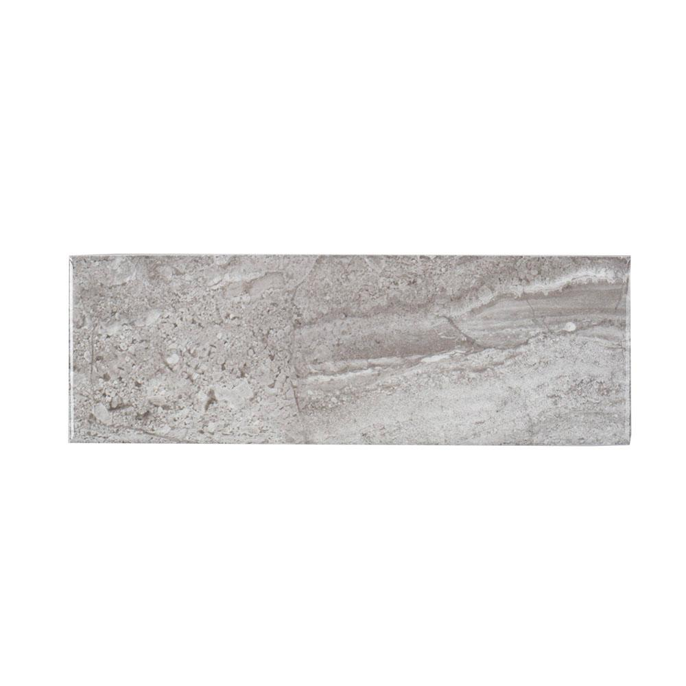 Ceramic tile tile the home depot queen grey inkjet 4 in x 12 in ceramic wall tile dailygadgetfo Image collections