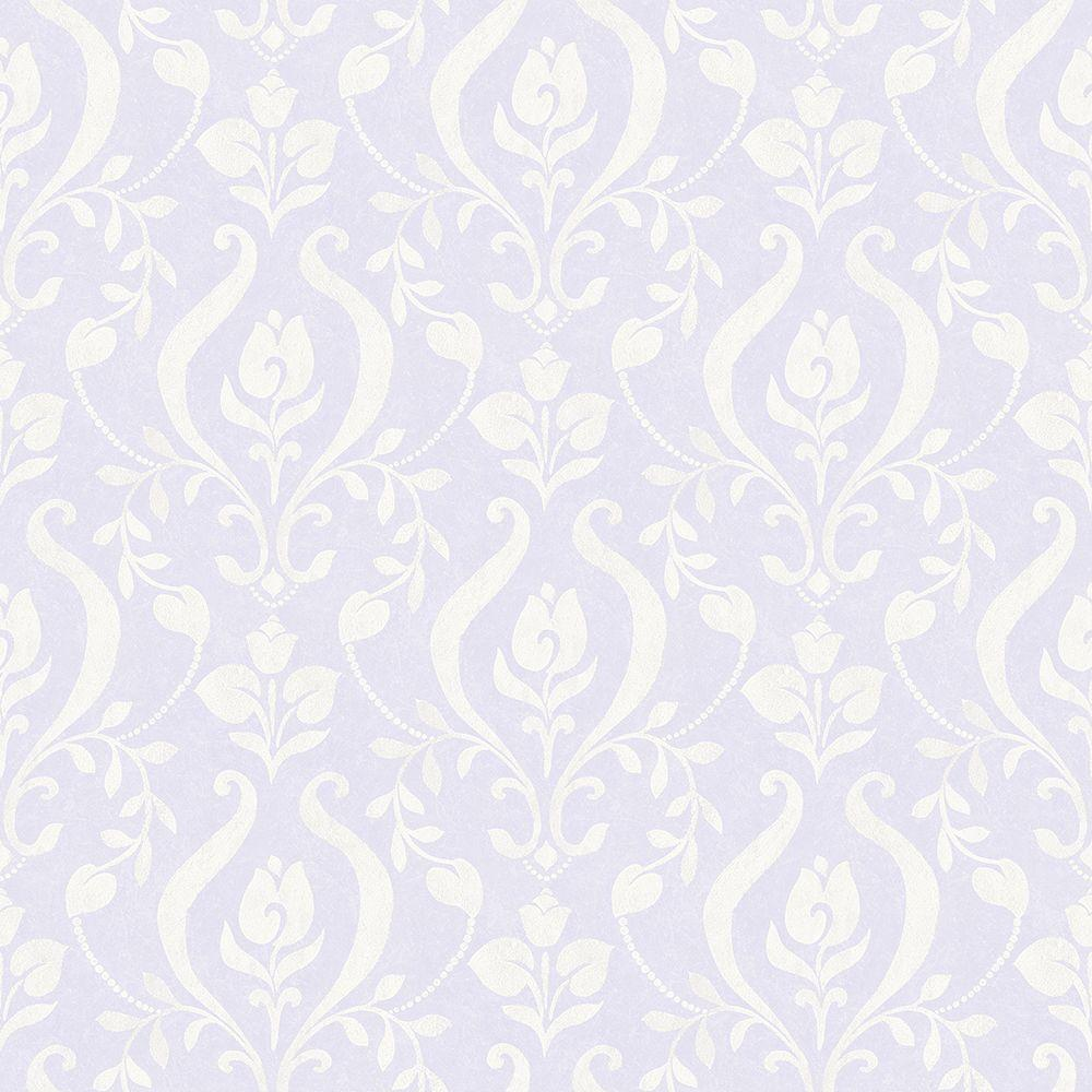 Chesapeake Eloise Lavender (Purple) Damask Wallpaper