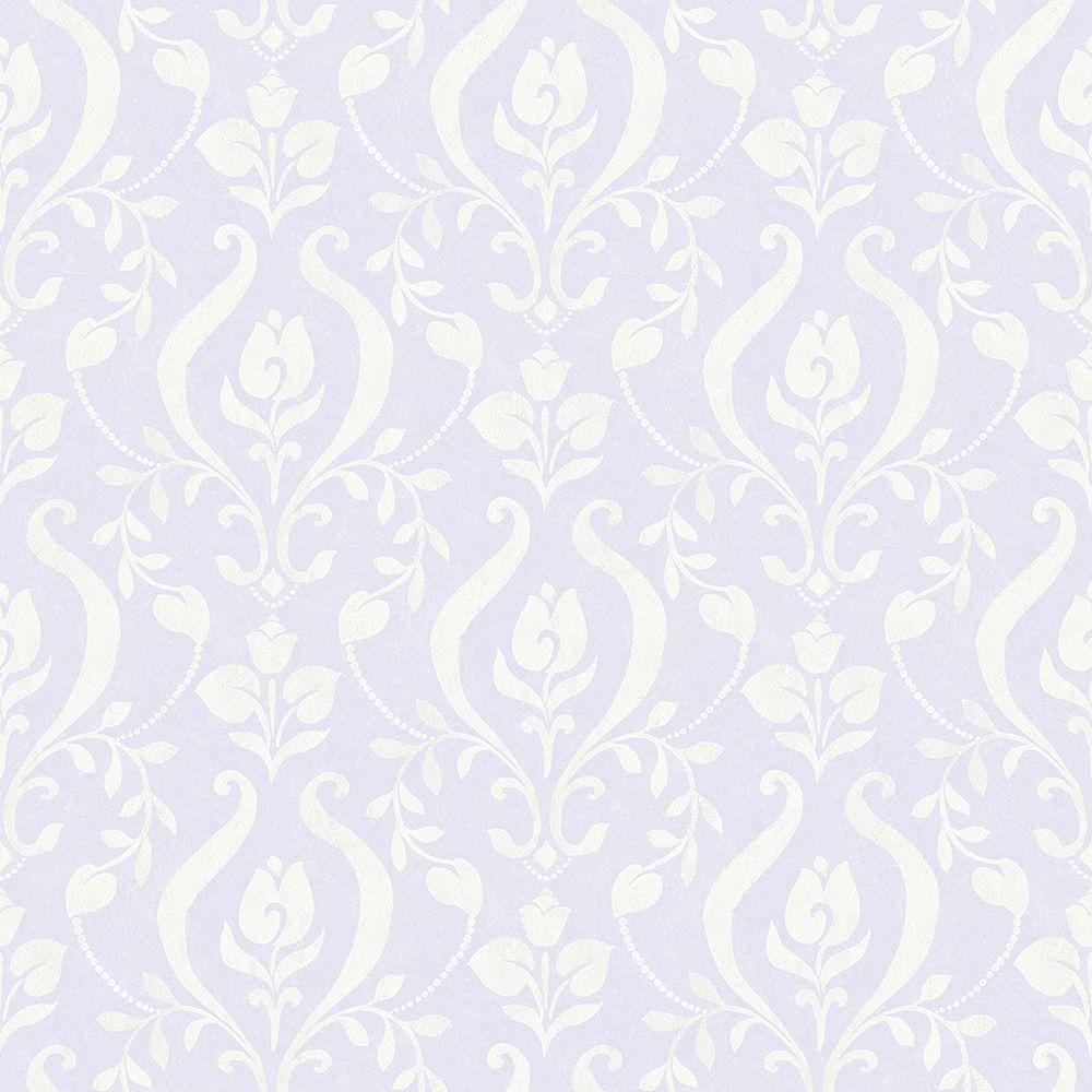 Chesapeake Eloise Lavender Damask Wallpaper Sample