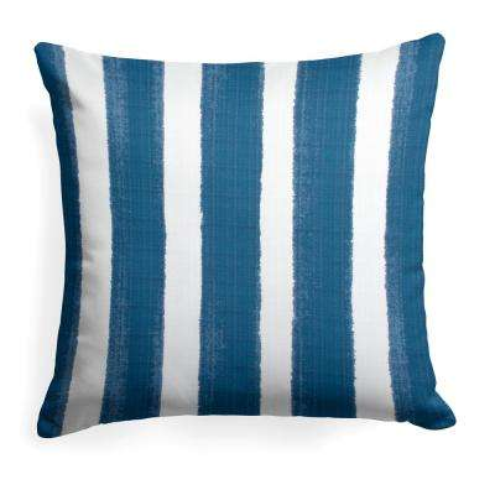 Caravan Navy Square Outdoor Throw Pillow