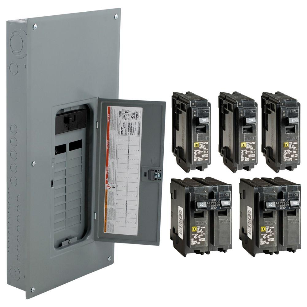 Square D 200 Amp 20 Space 40 Circuit Indoor Main Breaker Panel Box Lug Wiring Diagram Load Center 7449681583922 Ebay