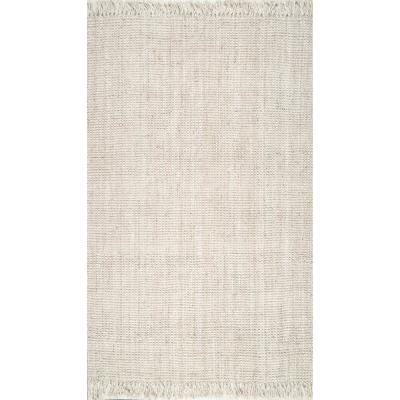 Natura Chunky Loop Jute Off-White 6 ft. x 9 ft. Area Rug