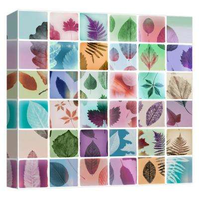 15 in. x 15 in. ''Analog Leaves'' Printed Canvas Wall Art