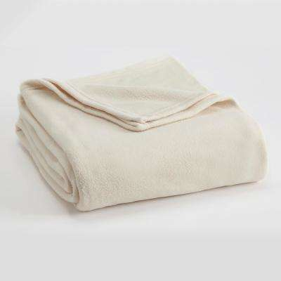 Microfleece Winter White Polyester Twin Blanket