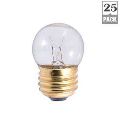 7.5-Watt S11 Clear Dimmable Warm White Light Incandescent Light Bulb (25-Pack)