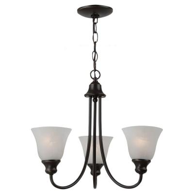 Windgate 3-Light Heirloom Bronze Single-Tier Chandelier