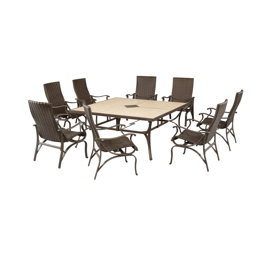 hamptonbay Hampton Bay Pembrey 9-Piece Patio Dining Set