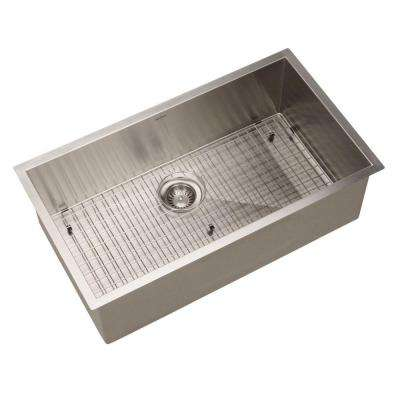 Contempo Gourmet Undermount Stainless Steel 32 in. 0-Hole Single Bowl Kitchen Sink