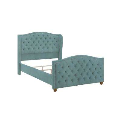 Marcella Arctic Blue Queen Upholstered Bed