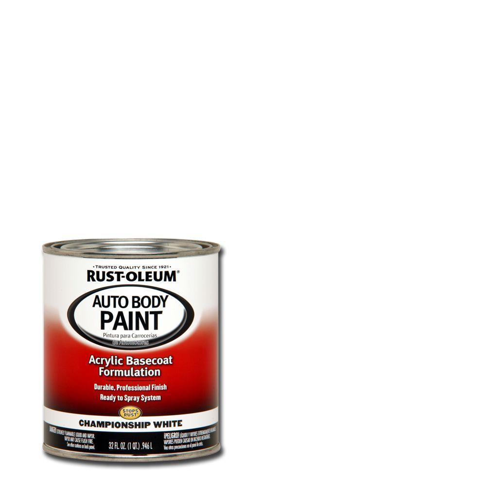 Rust-Oleum Automotive 1 qt. Auto Body Championship White Paint (Case of 2)
