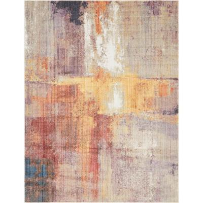 Unique Loom Downtown Collection by Jill Zarin Multi 9 ft. x 12 ft. Area Rug
