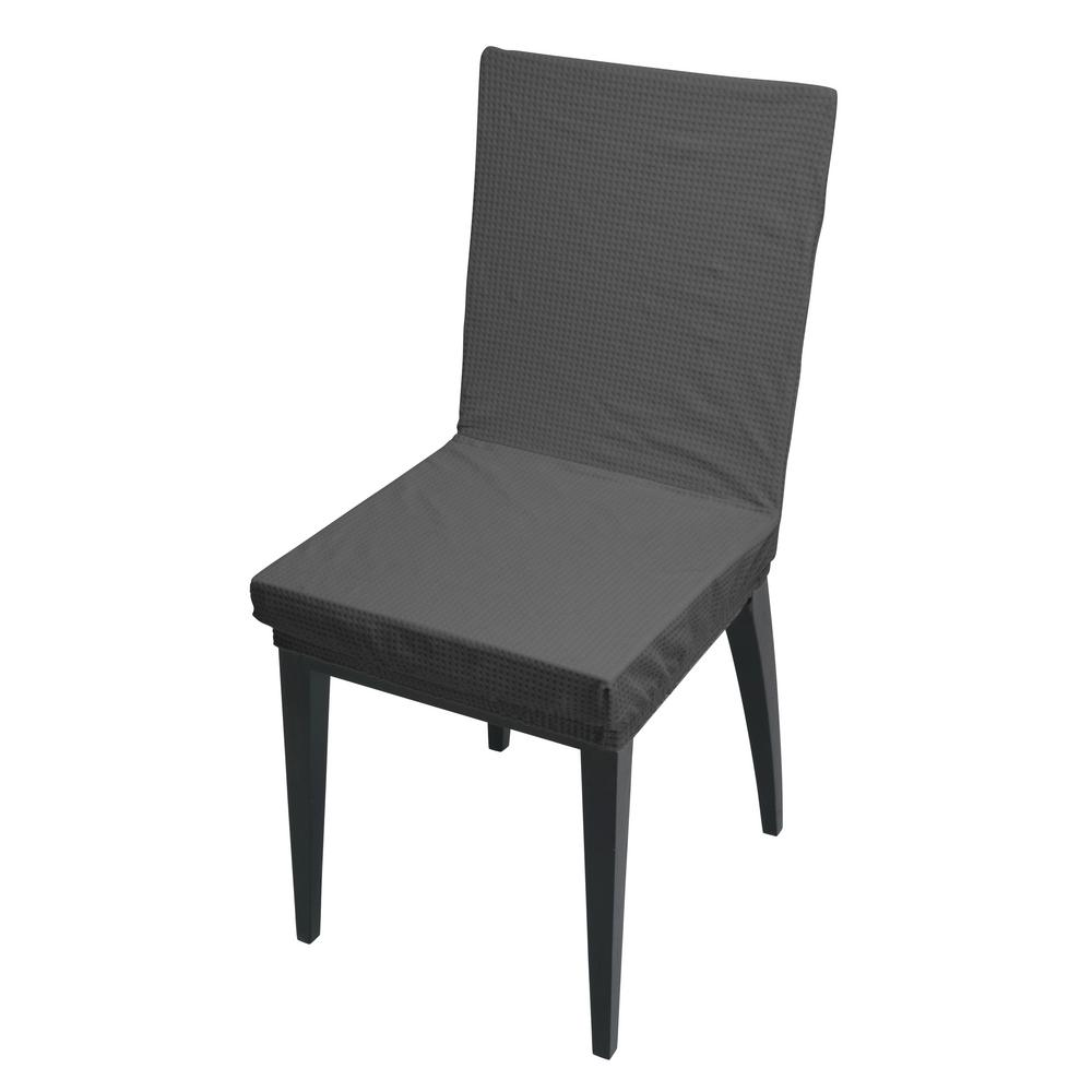 41.73 in. x 15.75 in. Pixel Grey Stretch Dining Chair Slip