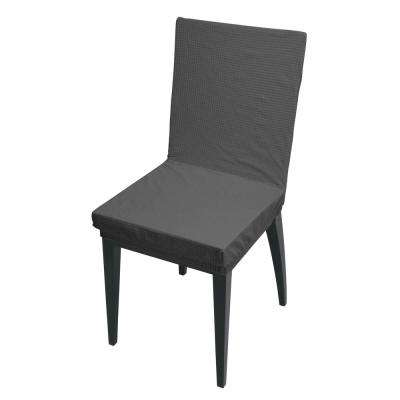 41.73 in. x 15.75 in. Pixel Grey Stretch Dining Chair Slip Cover
