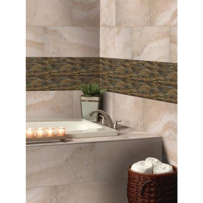 Rustique Interlocking 8 in. x 18 in. x 10 mm Textured Slate Mesh-Mounted Mosaic Tile (1 sq. ft.)