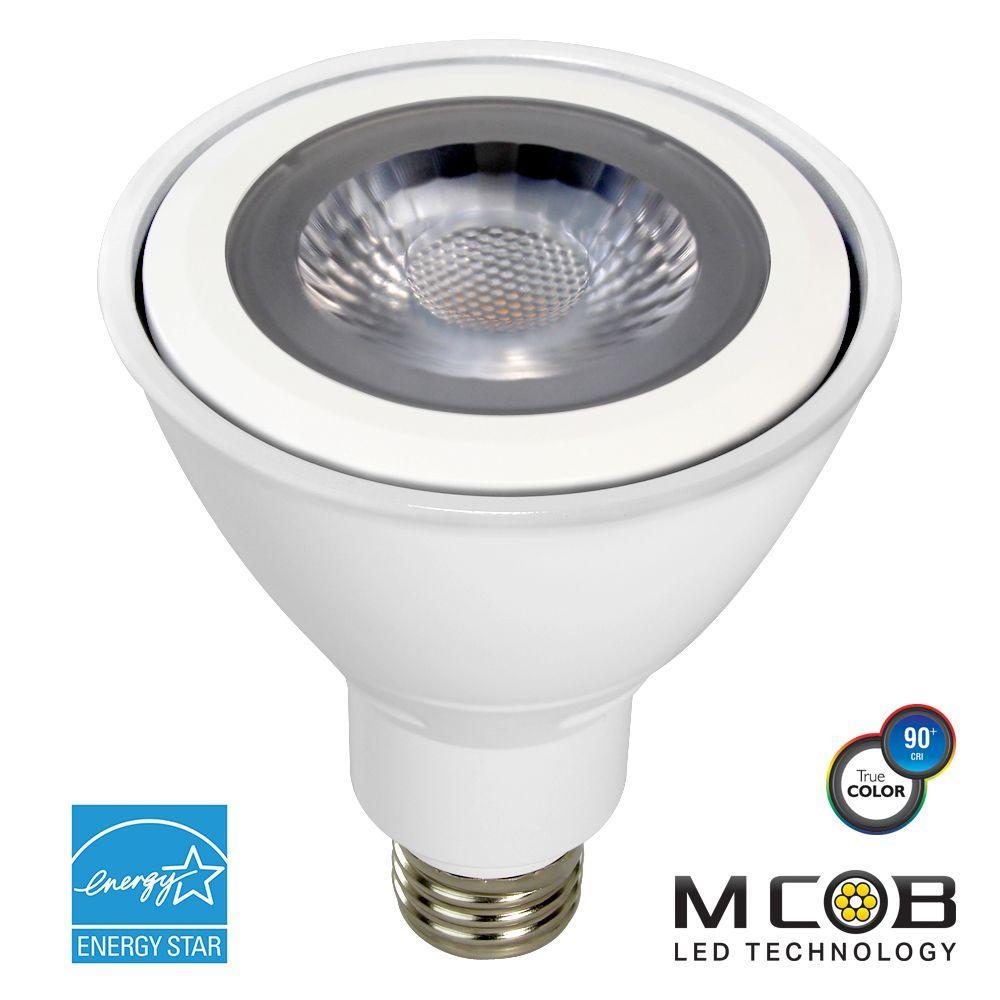 75W Equivalent Warm White (2700K) PAR30 Long Neck Dimmable MCOB LED Flood Light Bulb