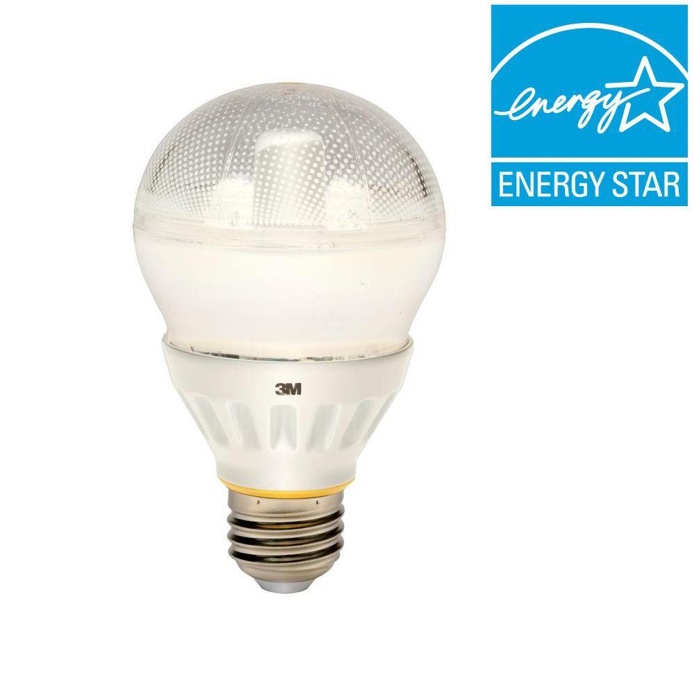 3M 60W Equivalent Soft White (3000K) A19 LED Light Bulb
