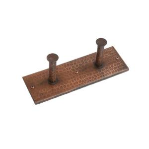 Premier Copper Products Hand Hammered Copper Double Robe Hook in Oil Rubbed Bronze by Premier Copper Products