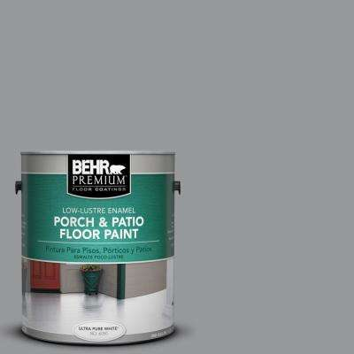 1 gal. #MS-82 Cobblestone Grey Low-Lustre Interior/Exterior Porch and Patio Floor Paint