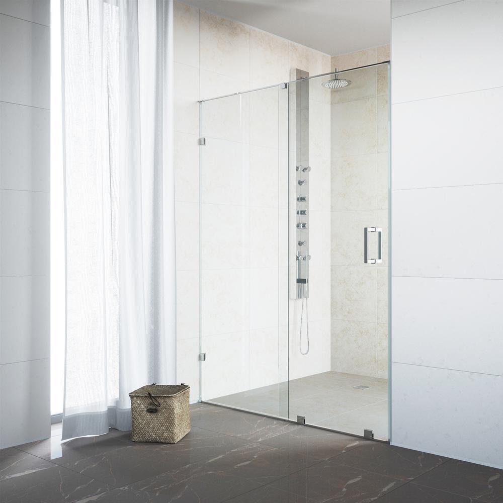 VIGO Ryland 62 in. x 71.5 in. Semi-Framed Sliding Shower Door in ...
