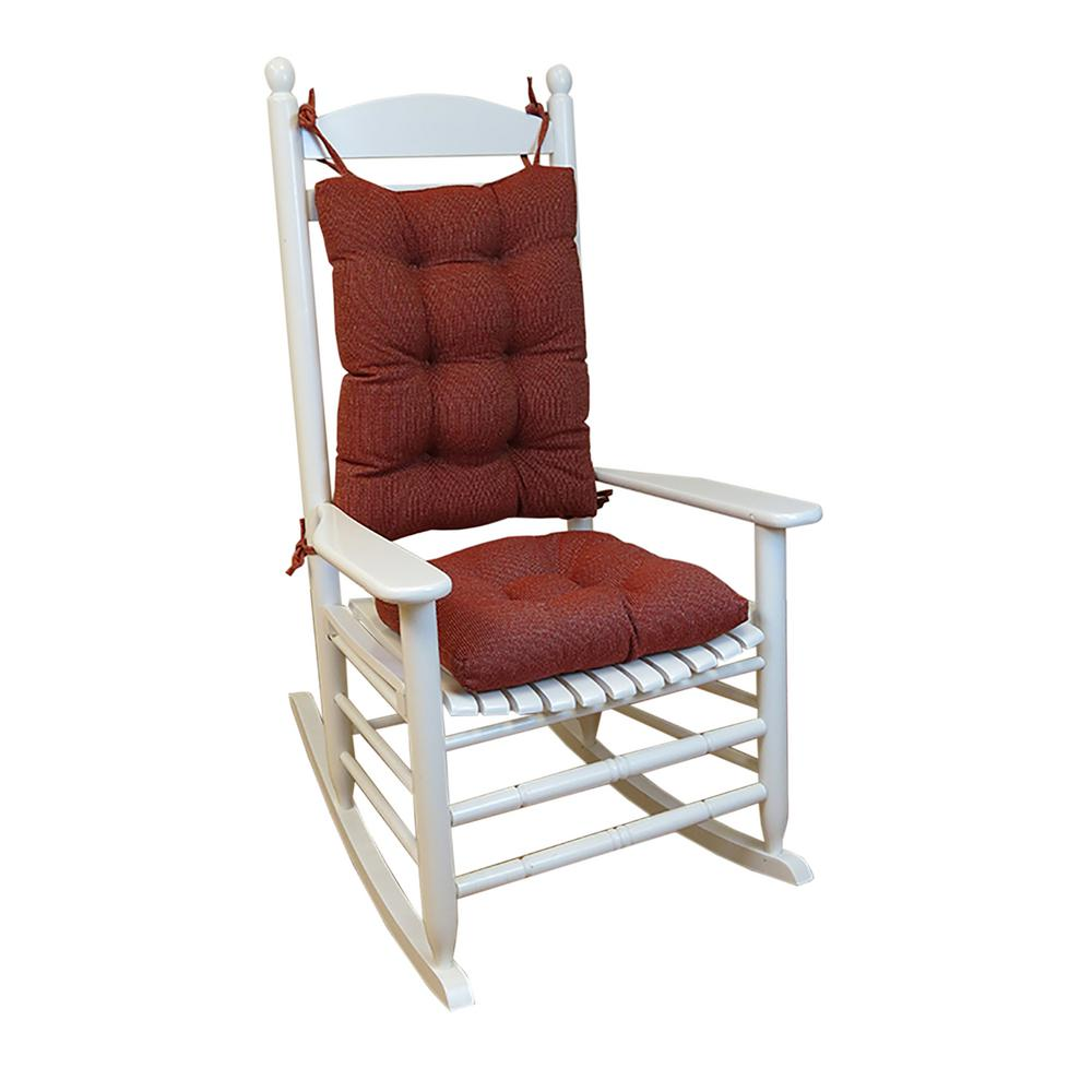 Gripper Saturn Red Jumbo Rocking Chair Cushion Set