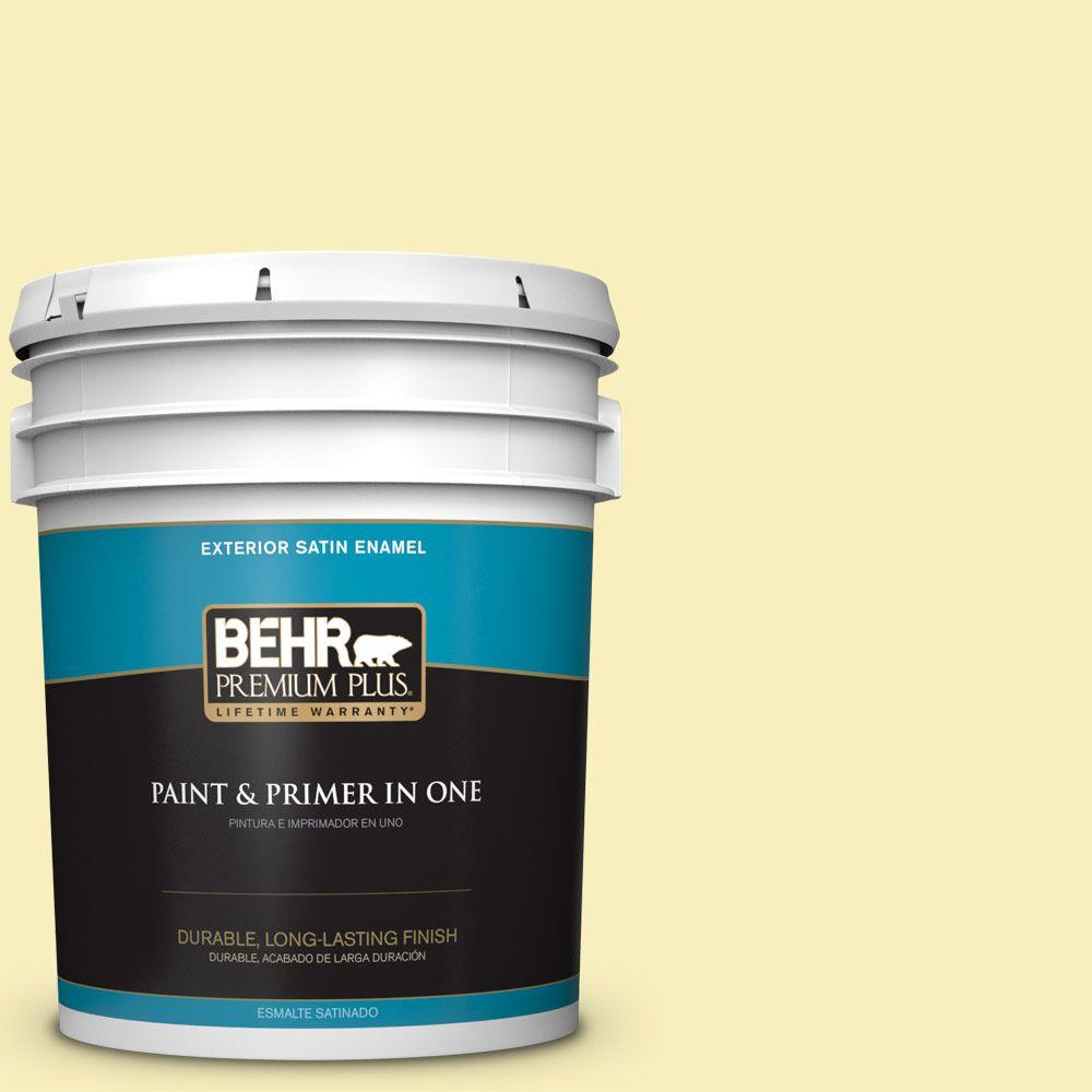 5-gal. #380C-3 Moon Dance Satin Enamel Exterior Paint