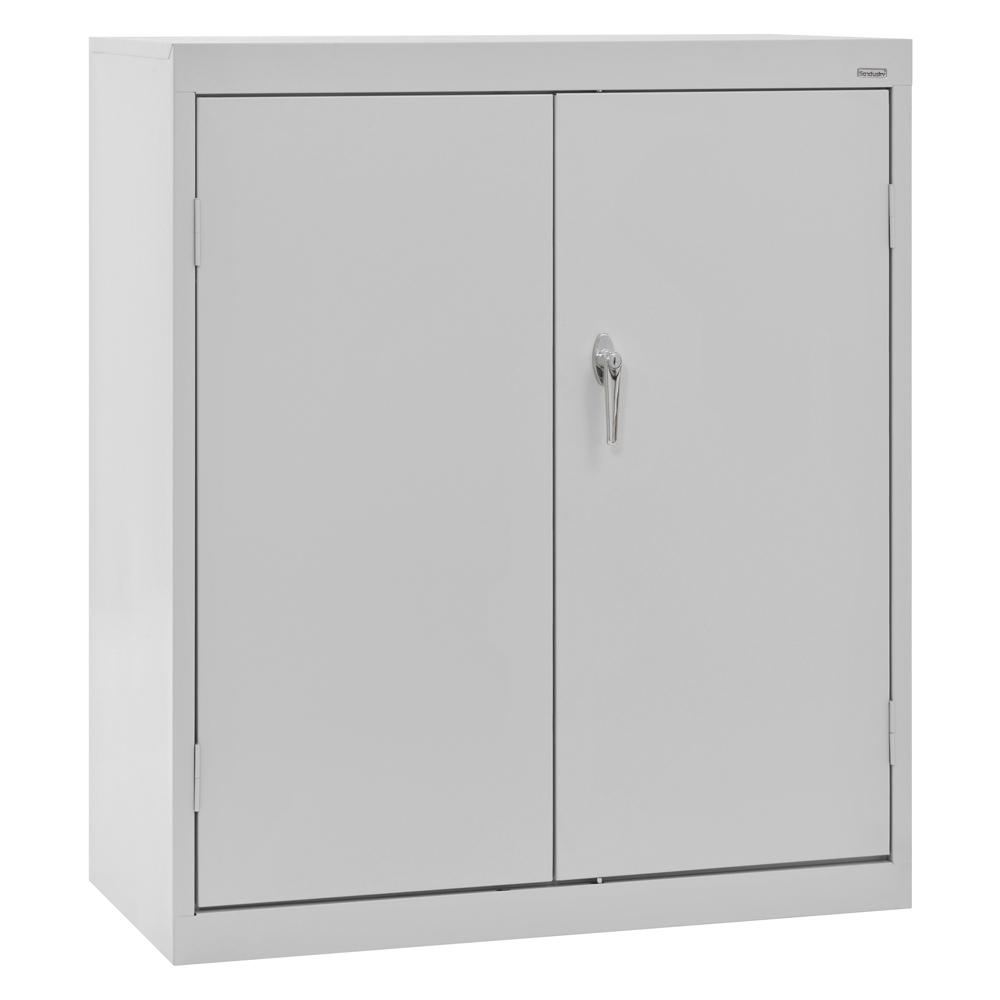 D Steel Counter Height Storage Cabinet With Adjustable Shelves In Dove  Gray CA21362442 05   The Home Depot