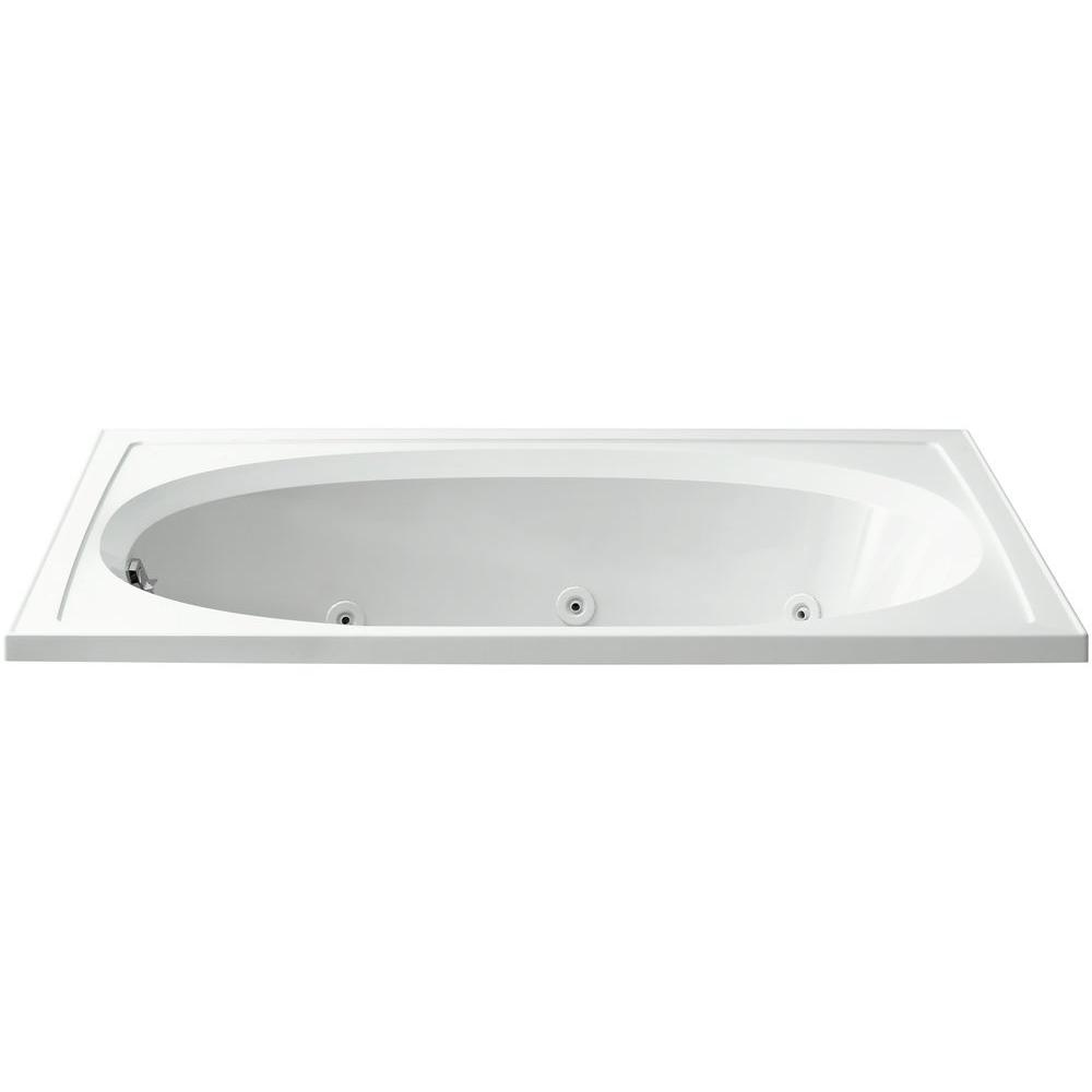 STERLING Tranquility 5 ft. Rectangular Drop-in Whirlpool Bathtub ...
