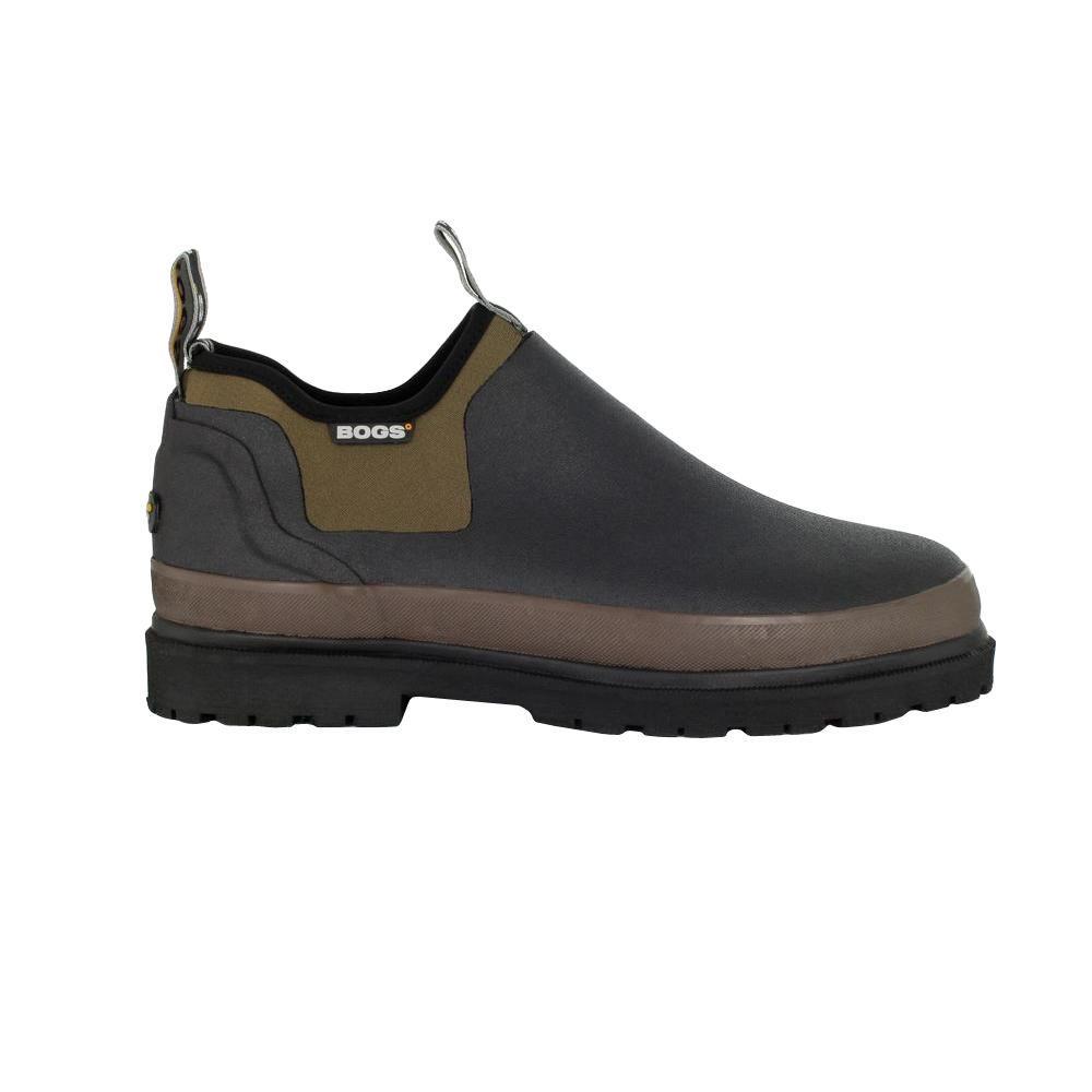 BOGS Tillamook Bay Men Size 12 Black Waterproof Slip-On Rubber Shoe