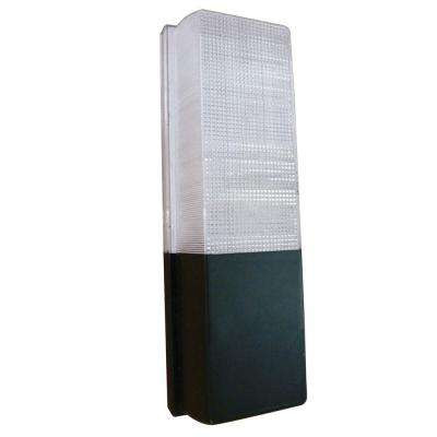 13-Watt Black Outdoor Fluorescent Wall Pack Light