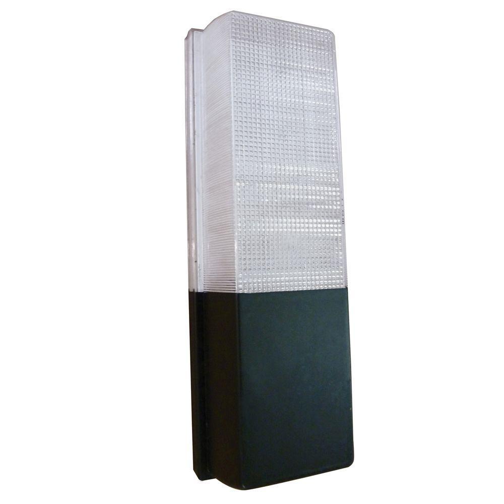13-Watt Black Outdoor Fluorescent Wall Pack Light