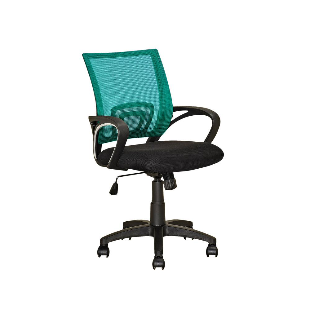 Workspace Black and Teal Mesh Back Office Chair