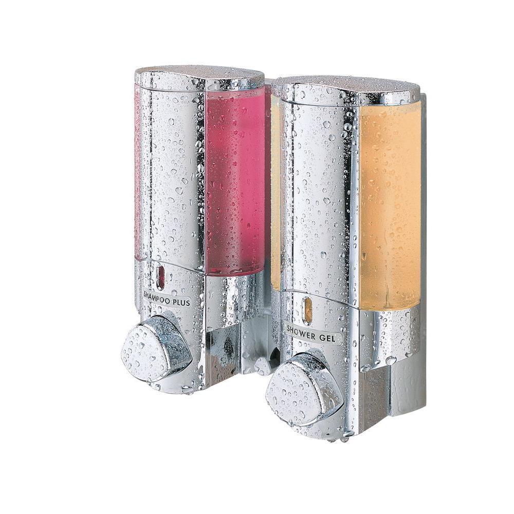 AVIVA Two Chamber Dispenser in Chrome
