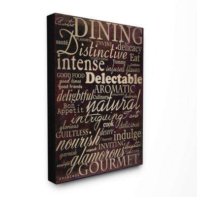 "30 in. x 40 in. ""Dining Words Black Kitchen"" by Gplicensing Printed Canvas Wall Art"