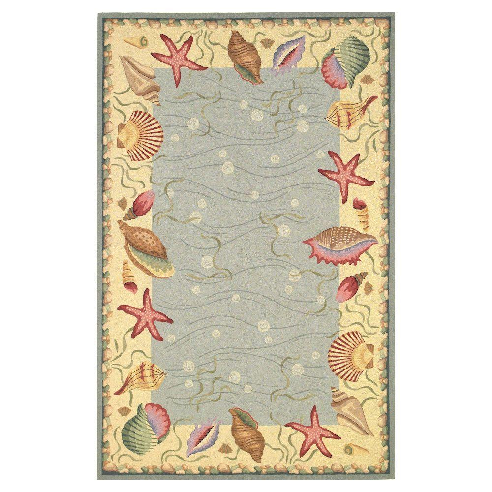 This Review Is From Seaside Border Blue Ivory 3 Ft 6 In X 5 Area Rug