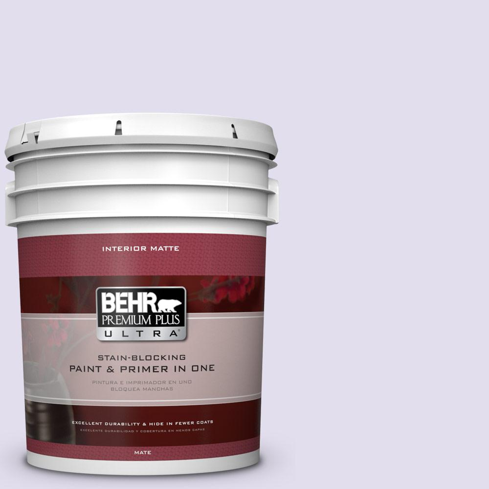 BEHR Premium Plus Ultra 5 gal. #650C-2 Powdery Mist Flat/Matte Interior Paint