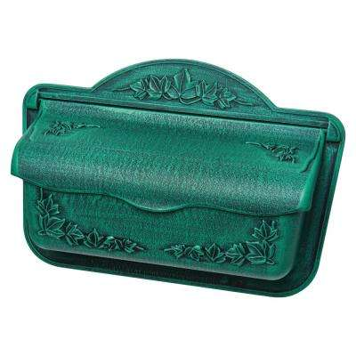 Covington Verde Green Wall-Mount Mailbox