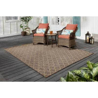 Grey Diamond 7 ft. x 9 ft. Indoor/Outdoor Area Rug