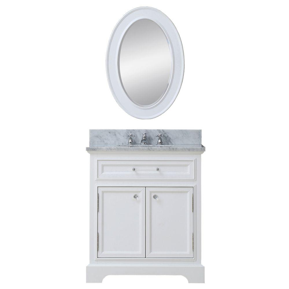 24 in. W x 22 in. D Vanity in White with
