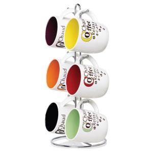 Home Basics 6-Piece Coffee Mug with Stand by Home Basics