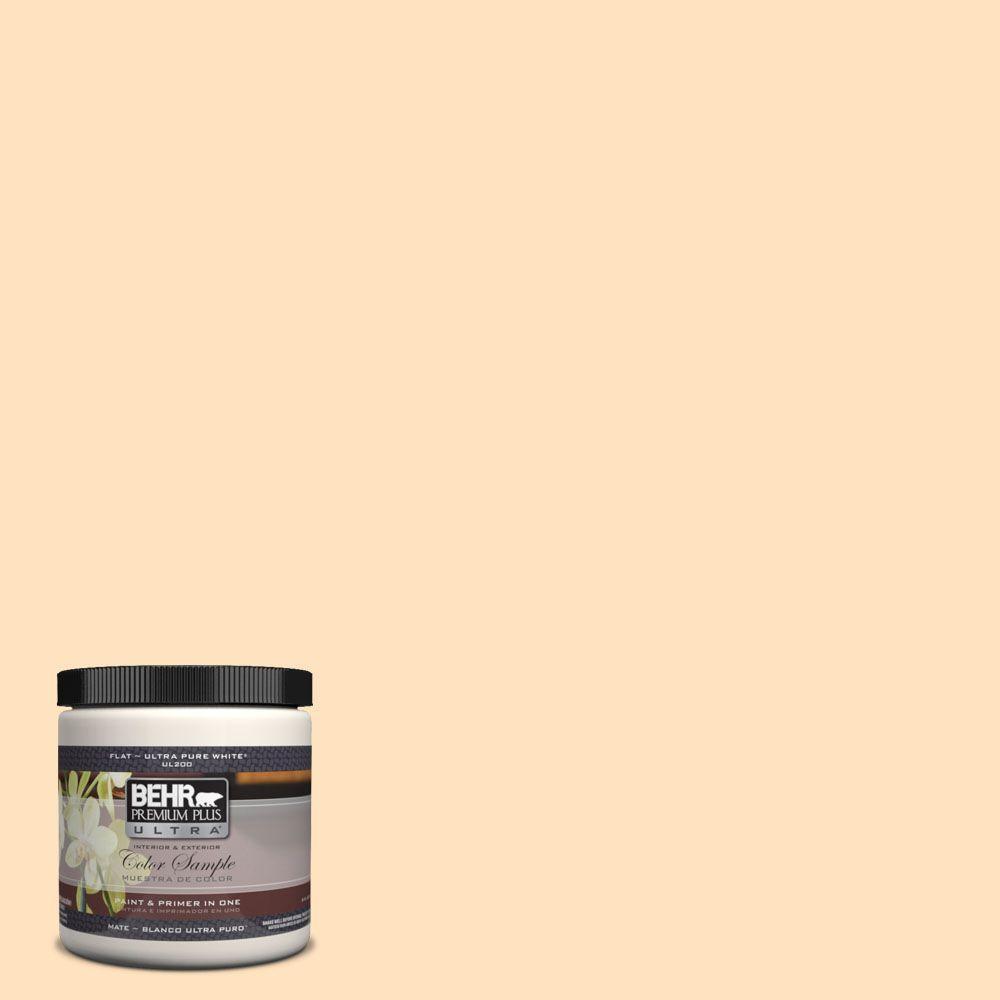 BEHR Premium Plus Ultra 8 oz. #320C-2 Cream Yellow Interior/Exterior Paint Sample