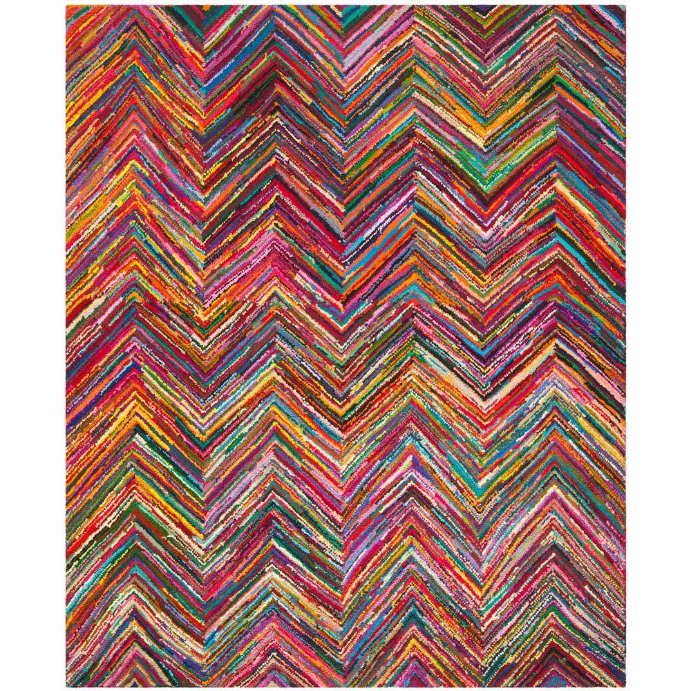 Safavieh Nantucket Pink Multi 8 Ft X 10 Area Rug