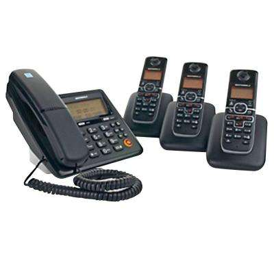 DECT 6.0 Corded and Cordless Phone System with 4-Handsets and Answering System