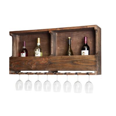Modesto 8-Bottle Reclaimed Wood Shelf Wine Rack