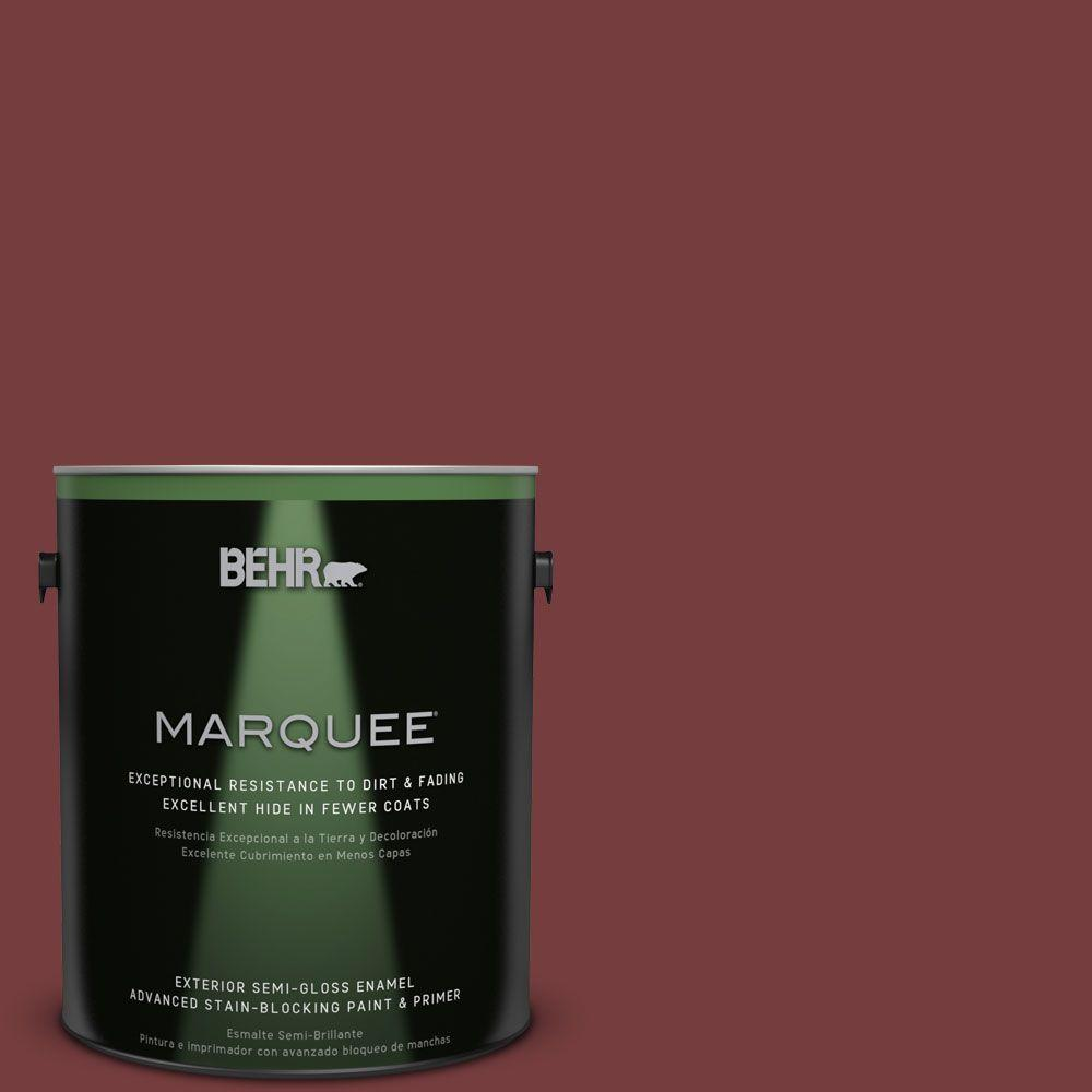 BEHR MARQUEE 1-gal. #PPF-01 Tile Red Semi-Gloss Enamel Exterior Paint