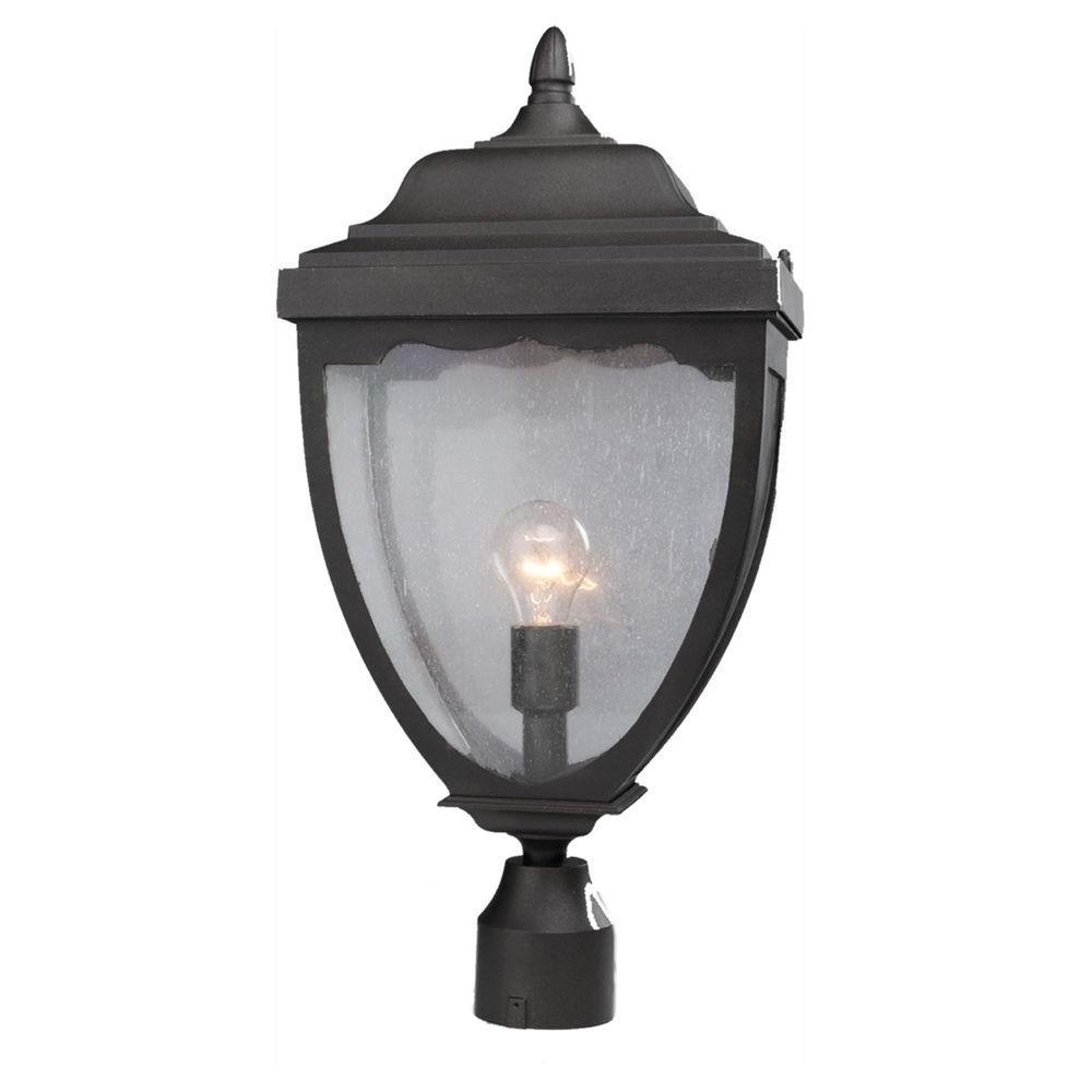 Aeolia 1-Light Outdoor Black Post Light